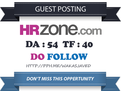 Publish a Do follow Guest Post on HRZone.com (PA 62, DA 54)
