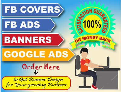 Design Eye Catchy Facebook Ads,Google Ads,Web Banners & Covers