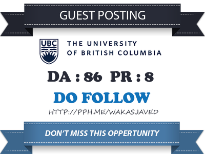 Publish Guest Post on Canadian EDU University Blog (ubc.ca) DA86