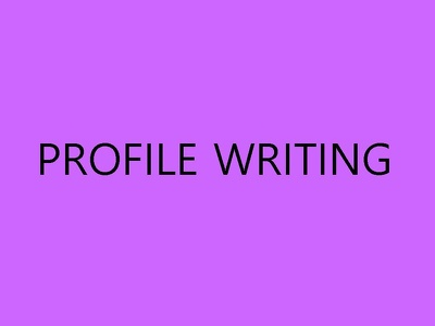 Write Your Short Profile (up to 150 Words)