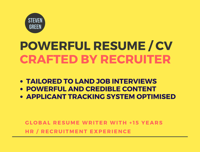 Job Sector Optimised CV / Resume written by Recruiter