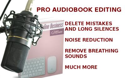 Edit 15 minutes of your audiobook audio