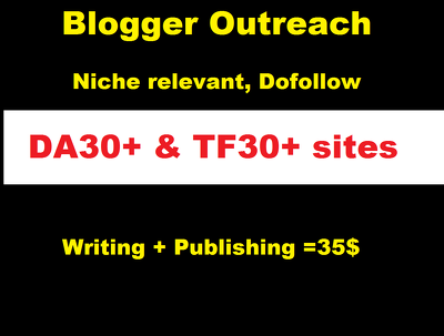 Guest Post on Niche Relevant DA30 & TF30 website with writing