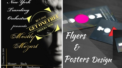 Design unique flyer design buy one get one free