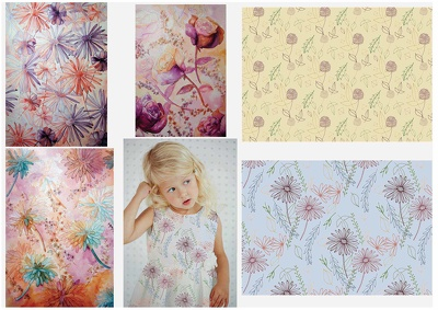 Create floral prints for textiles