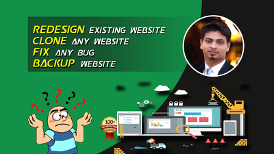 Redesign your existing wordpress website or duplicate e any site