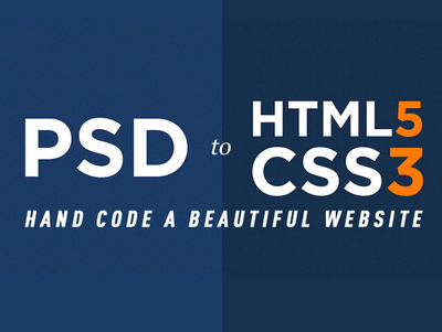 Slice any home page psd into html/css/scss