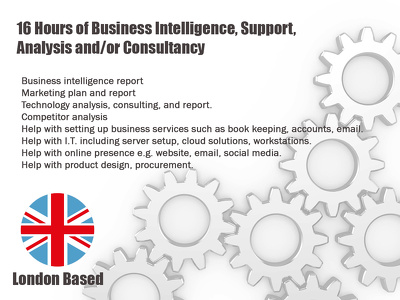 Business intelligence report, analysis, support & marketing plan