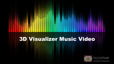 Create a 3D visualizer music video