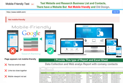 Research Not Mobile Friendly Website of there Business Contacts