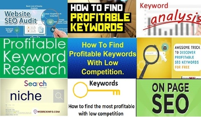 Suggest you 50 profitable keywords for your business/ niches
