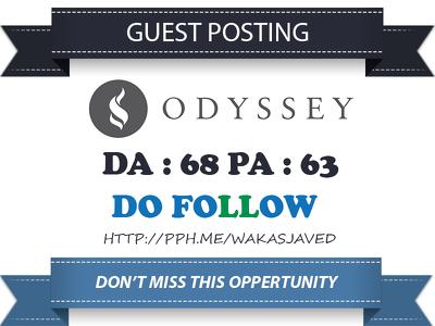 Guest post on TheOdysseyOnline – TheOdysseyOnline.com DA 68