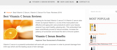 Guest post on bestvitcserum.com (skin care, beauty blog), DA 23