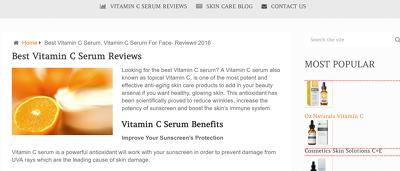 Guest post on bestvitcserum.com (skin care, beauty blog), DA 23