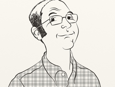 Draw a digital caricature or cartoon portrait