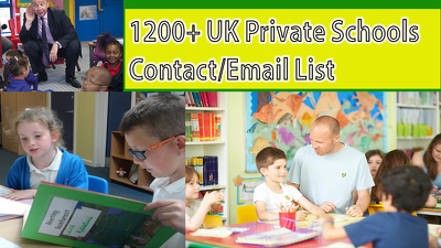 Give you Current 1200 plus UK private school contact/email list