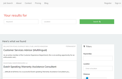 Provide a simple Job Board platform and front end