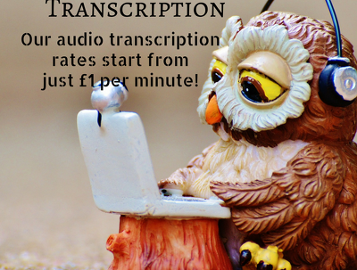 Do 20 minutes of audio transcription