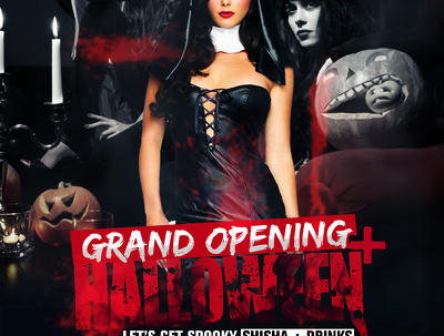 Halloween costume party flyer design