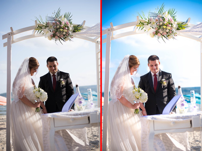 Wedding photo retouch / post processing / wedding retoucher