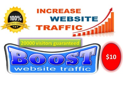 Drive 20000 visitors guaranteed  for your website or blog