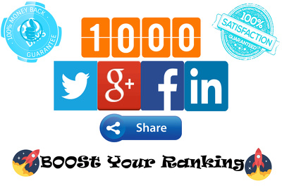 Provide 1000 social Shares to your Photo/Post/Website/Blog/Video