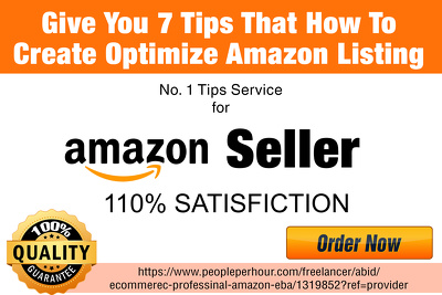 Give You 7 Tips That How To Create Optimise Amazon Listing