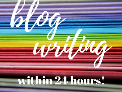 Write a blog post within 24 hours