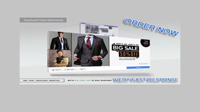 Create 2 Premium Facebook Cover or any custom social media cover