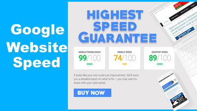 Speed up your website upto 85 score on google page speed