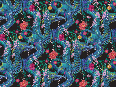 Design a seamless repeat pattern for fabric print, embroidery