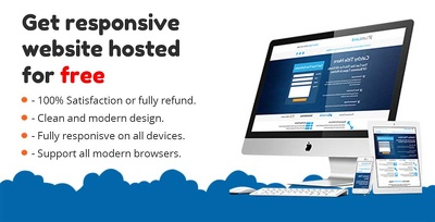 Create responsive website with FREE Hosting