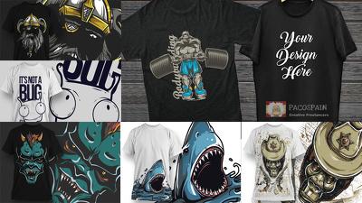 Design a high quality CUSTOM T-Shirt + FREE bundle of designs