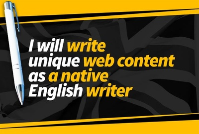 Professionally write your website content