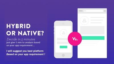 Hybrid or Native app development complete solution!