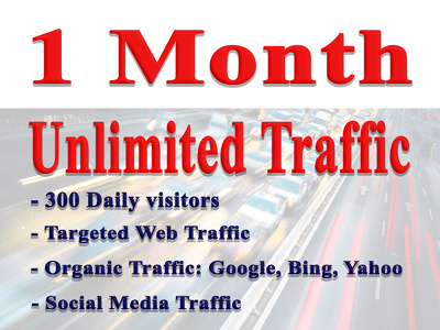 Drive Unlimited Genuine Real Traffic To Your Website For 1 month