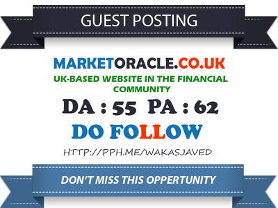 Guest post on Finance website MarketOracle.co.uk DA55 Dofollow