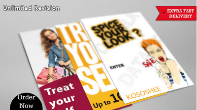 Make you an awesome eye catching flyer design