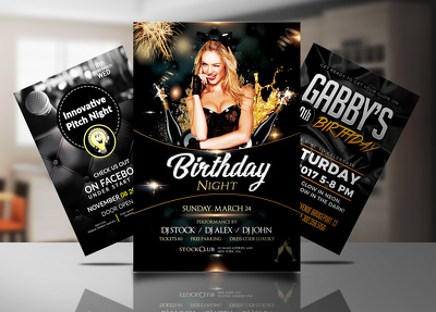 Create eye catching club/bar/event/party flyers and posters