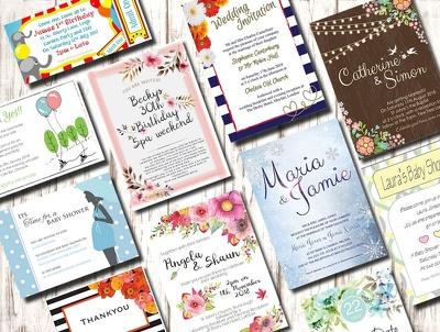 Design a unique invitation card for any special event