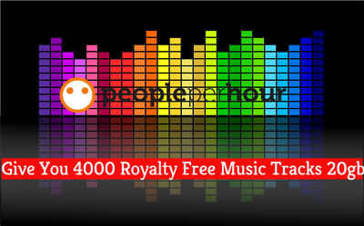 Give You 4000 Royalty Free Music Tracks upto  20gb