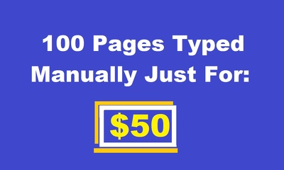 Type 100 Pages Manually