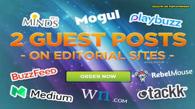 Do Guest Post on Top sites wn, onmogul, playbuzz, minds, kiwibox