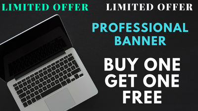 Design an awesome Social Media banner Buy One Get One Free
