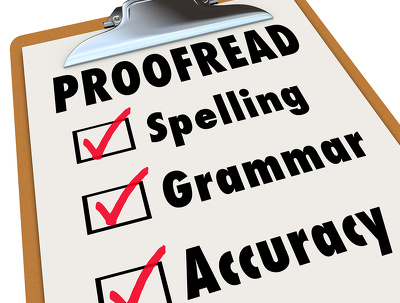 Proofread and edit your 1000 word articles to a high standard
