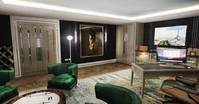 Create visual images for interior design projects
