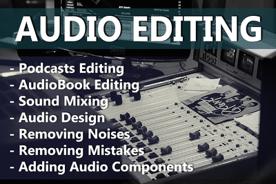 Perform a professional audio editing