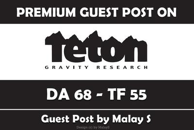 Write & Publish Guest Post on Tetongravity.com - DA 68