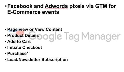 Integrate Adwords and Facebook pixels via Google Tag Manager