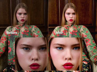 High-end skin retouching on your photo